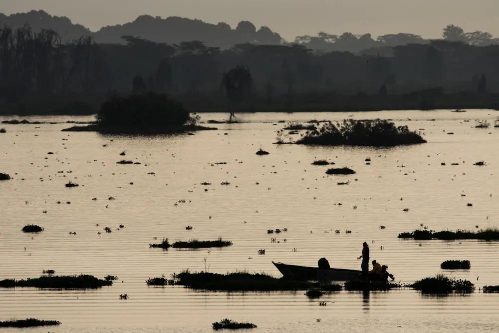 Fishermen on Lake Naivasha