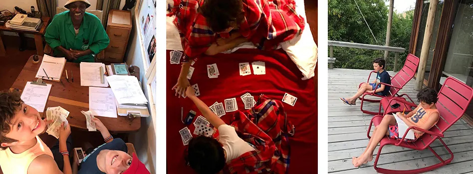 Kids playing cards new