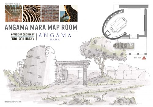 The Map Room building being drawn into life