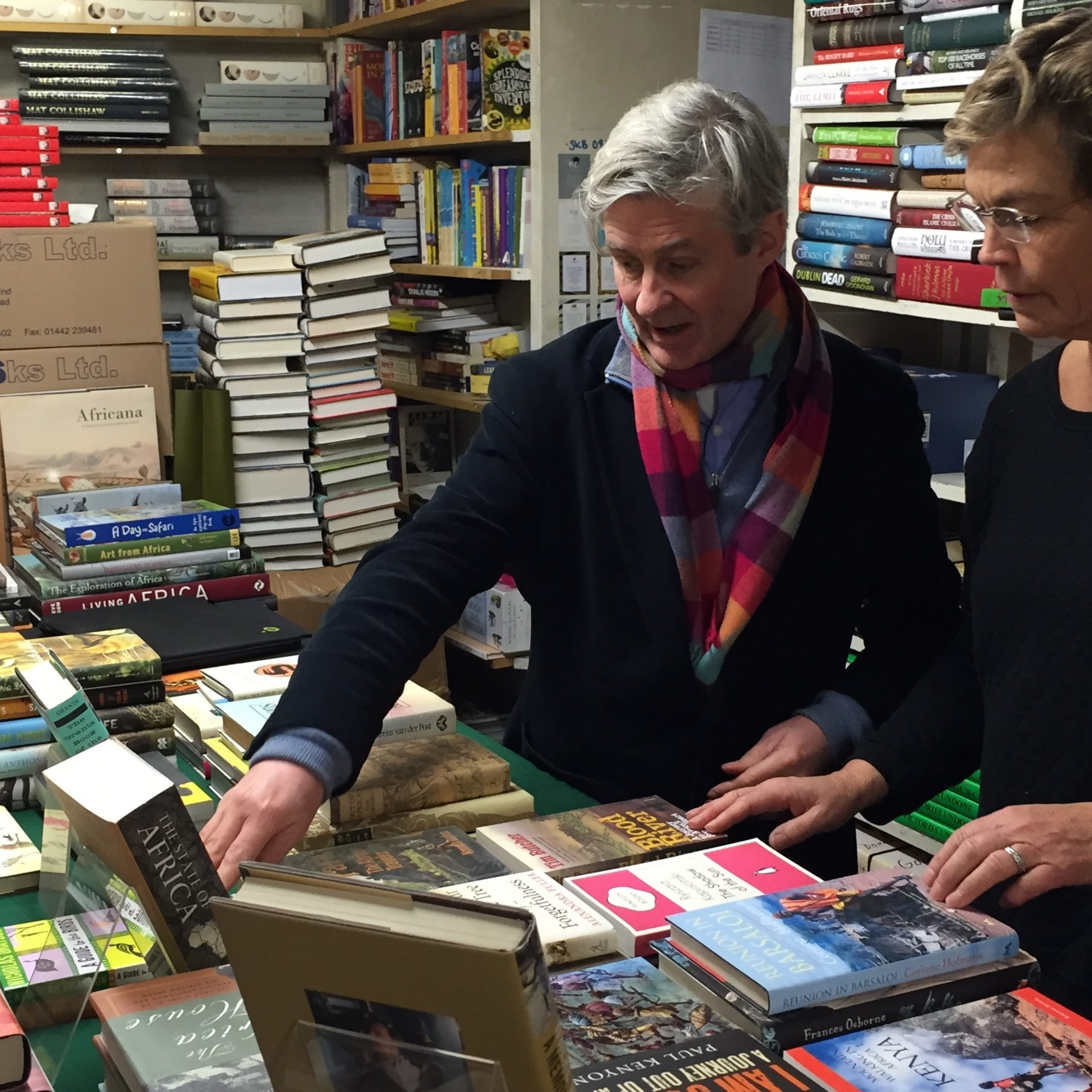 Nicky and Philip choosing books!