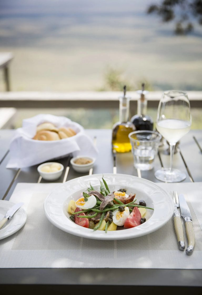 Salad Nicoise with a view