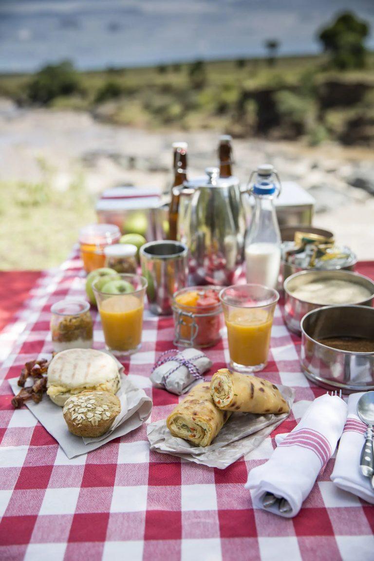 A picnic feast in the Mara
