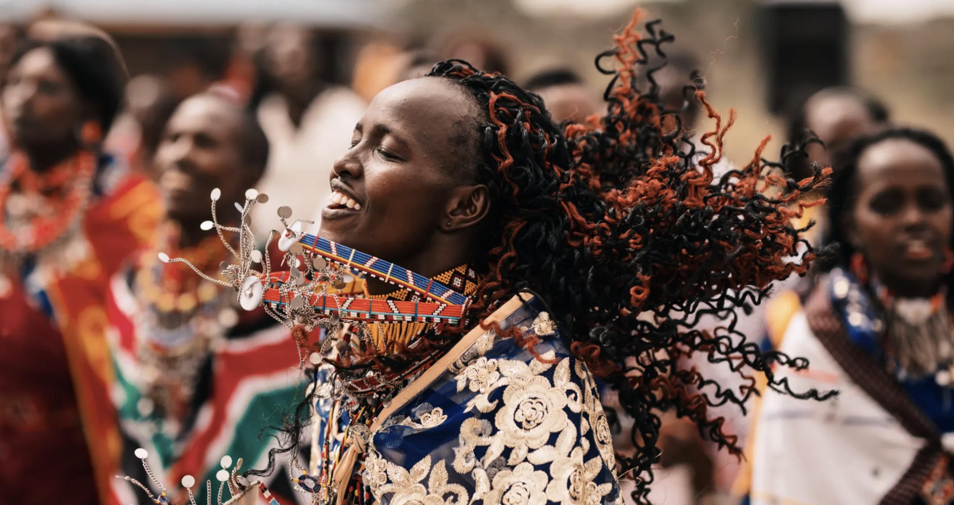 Maasai Woman Dancing
