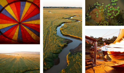 One of the best ways to experience the Mara is from above