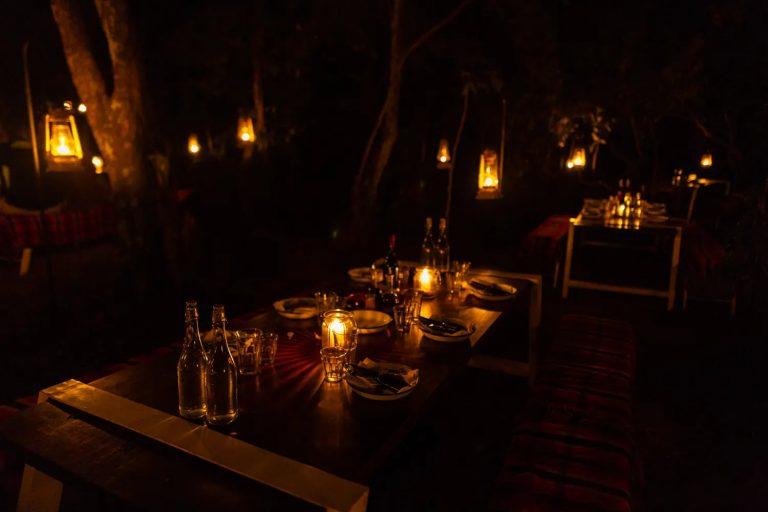 Angama Mara Bush barbecue under the stars