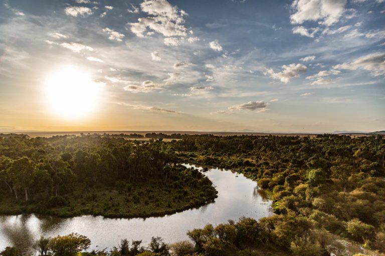 Sunrise views over the Mara River Maasai Mara