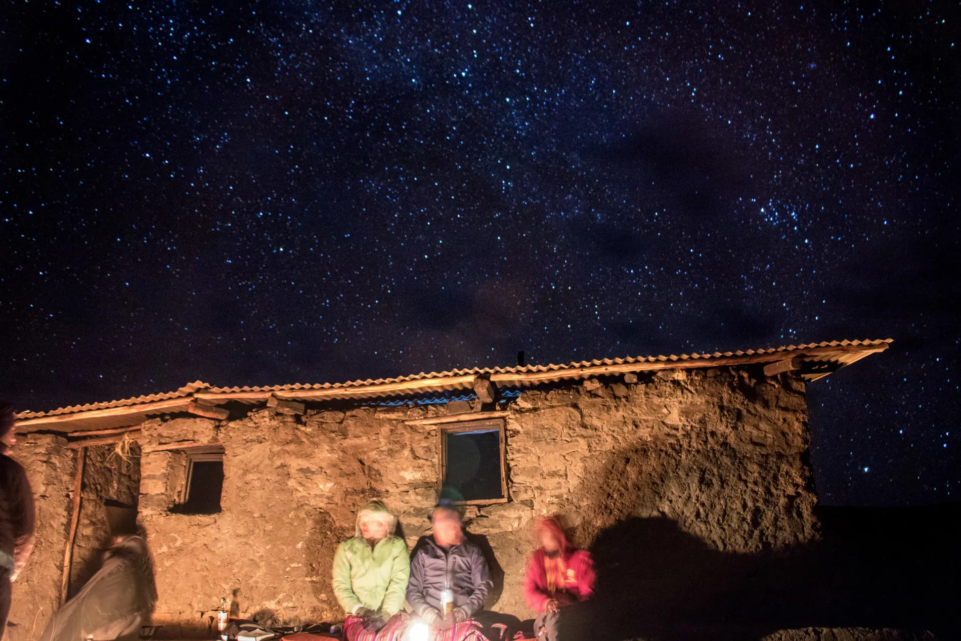 Stars over the camp site in the Simien Mountains