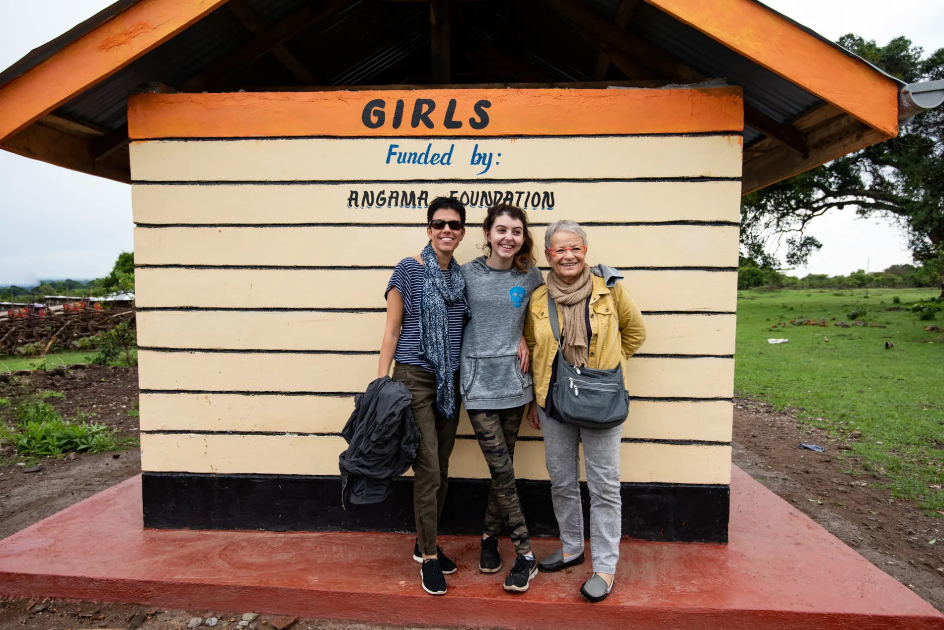 Girls funded by Angama Foundation