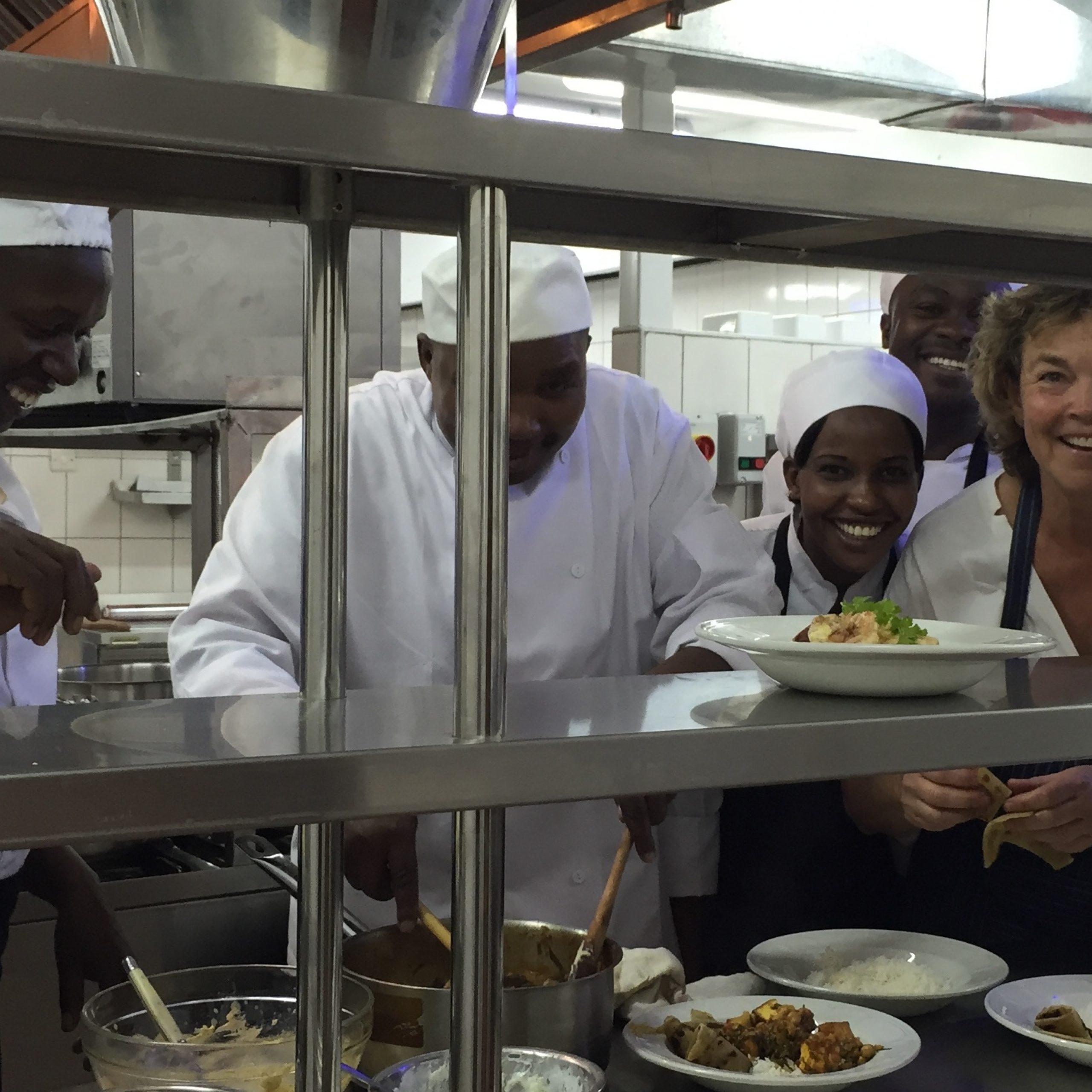 Nicky and the Angama Chef Team