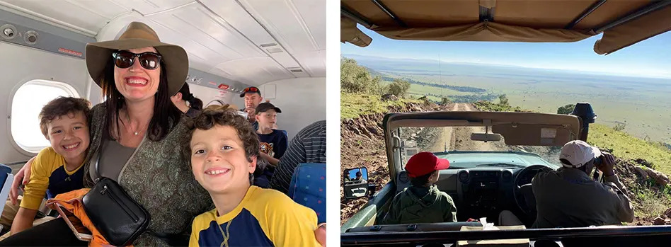 Tina and Sons game drive 1