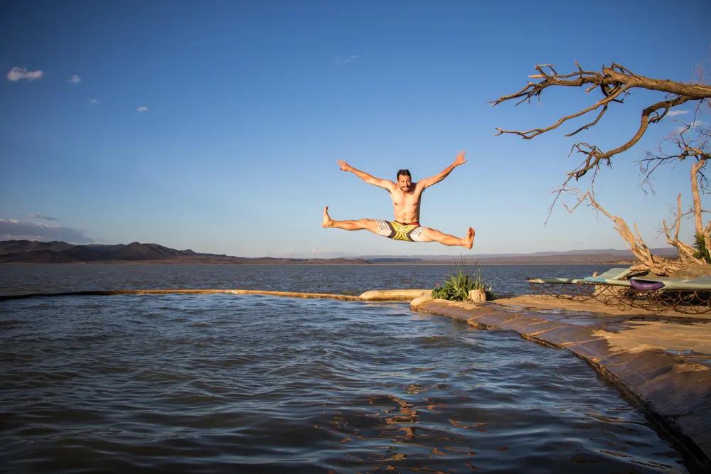Tyler at Lake Baringo