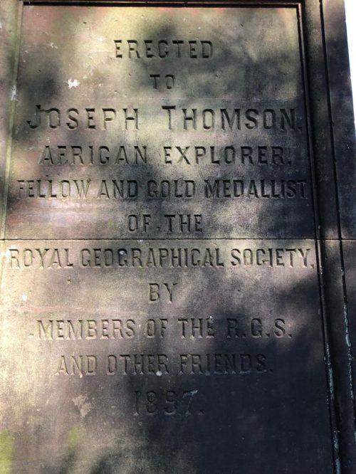 Joseph Thomson's Explorer Plaque
