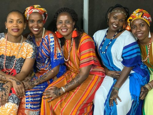 The beautiful Angama women in traditional dress for our Coastal Cultural night