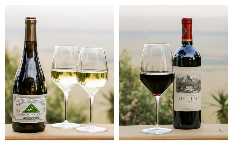 "Cape of Good Hope's ""Van Lill and Visser"" Chenin Blanc and Anthonij Rupert's Bordeaux Blend ""Optima"""