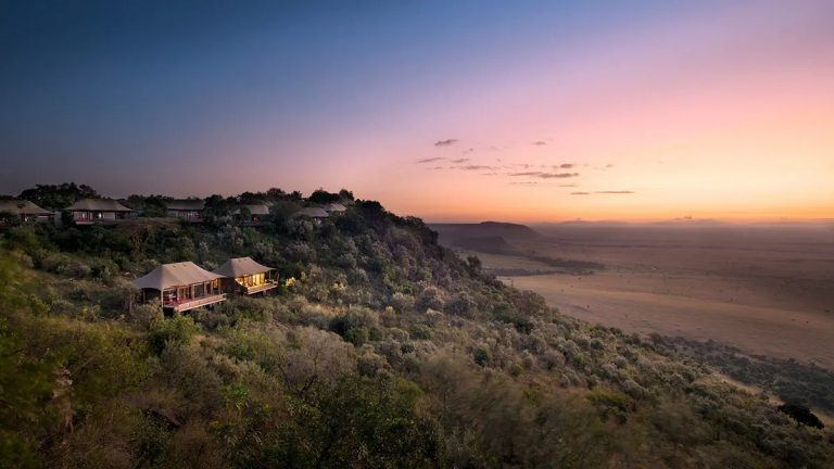 Angama Mara sunrise view