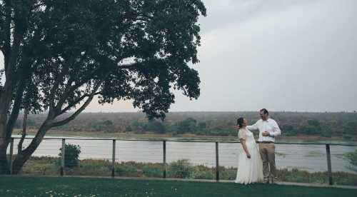 Kate and Mike's wedding day along the banks of the Crocodile River in South African