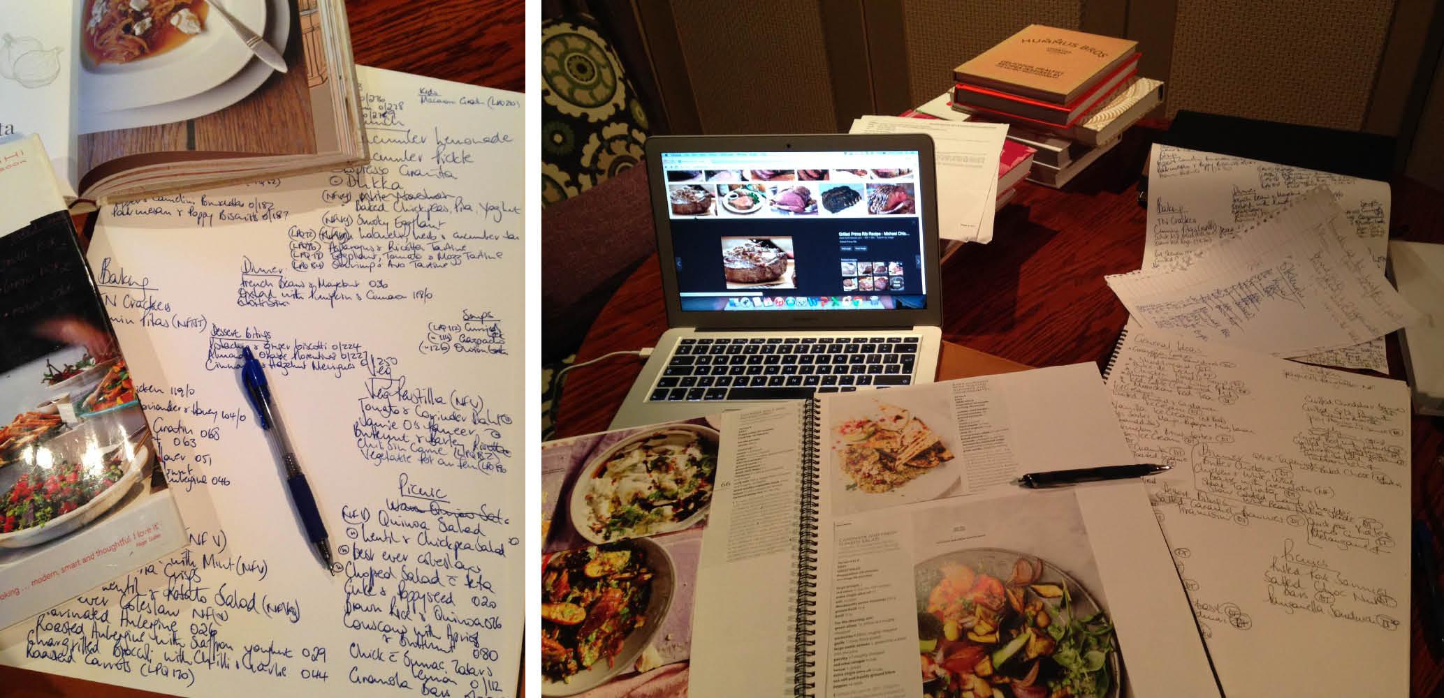 Developing the menus