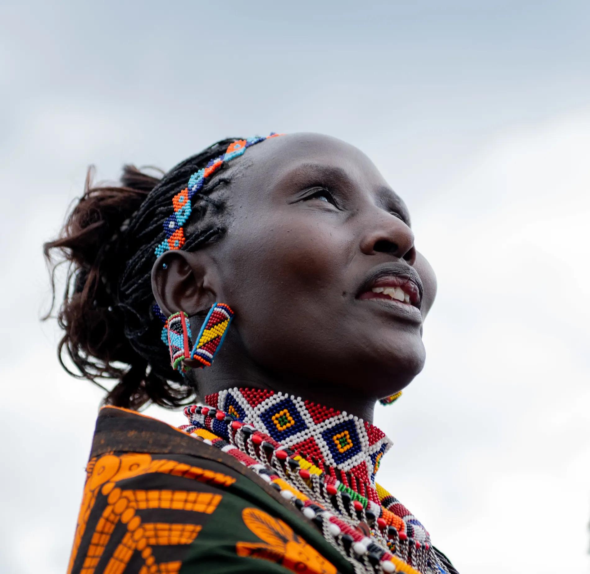 Maasai lady portrait