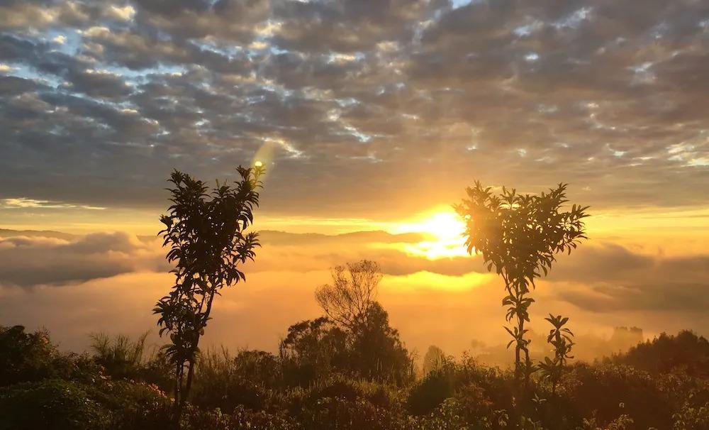 SUNRISE FROM VIRUNGA MOUNTAIN LODGE