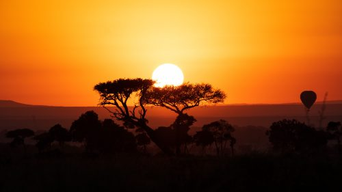 The sun rises in stunning fashion over the Mara