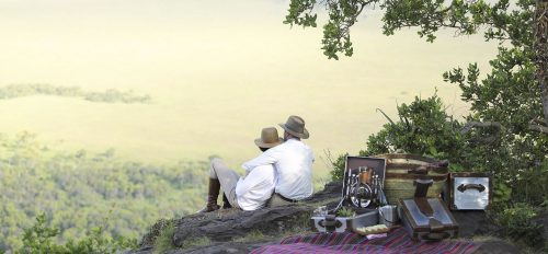 Above: Enjoy a picnic for two on the Out of Africa kopje that is featured in the movie poster