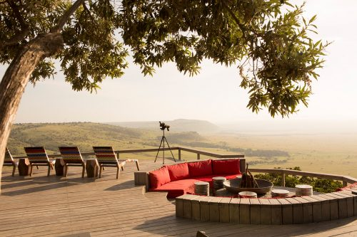 Perched on the edge of Africa's Great Rift Valley, Angama really is suspended between heaven and earth