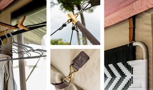 Hangers, headboards and brass buckles