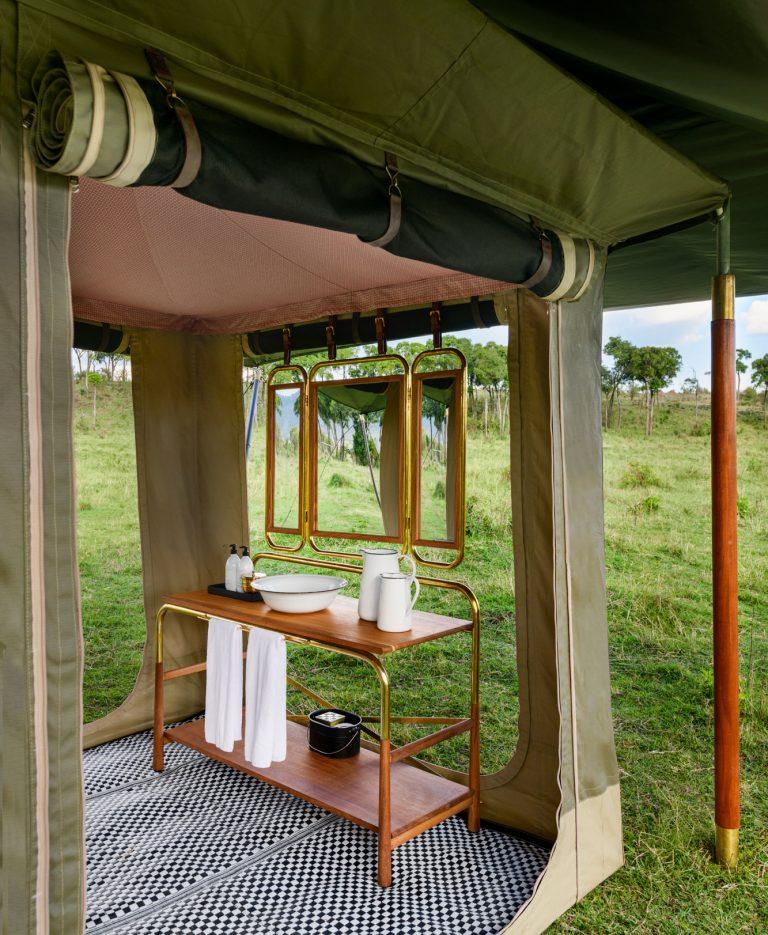 Washrooms at Angama Safari Camp