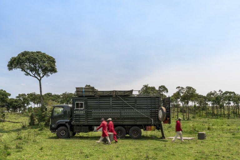 Angama Safari Camp's Big Bertha being offloaded