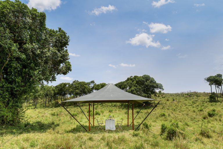 Angama Safari Camp Gazebo ready for two