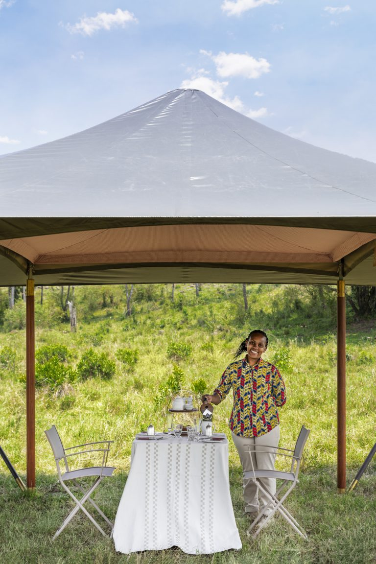 Warm Kenyan service in the heart of the Maasai Mara