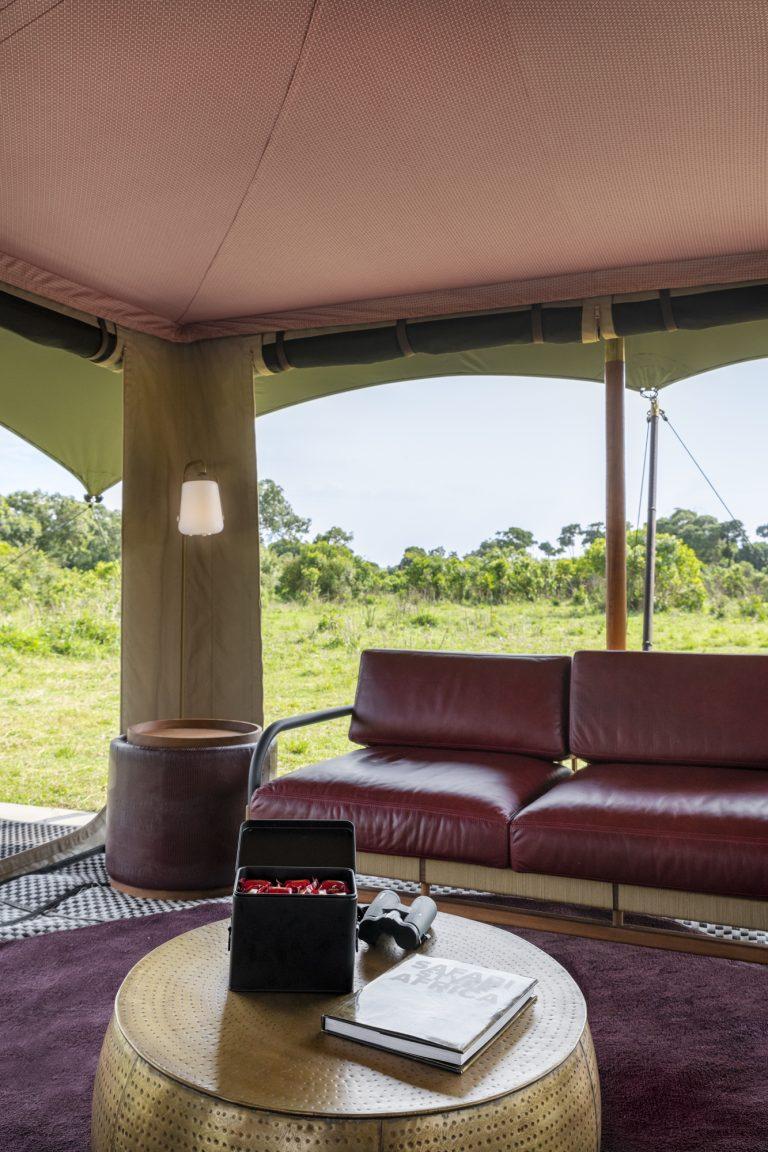 The Guest area at Angama Safari Camp