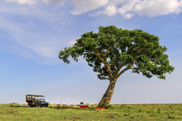 Sundowner set up in the Maasai Mara