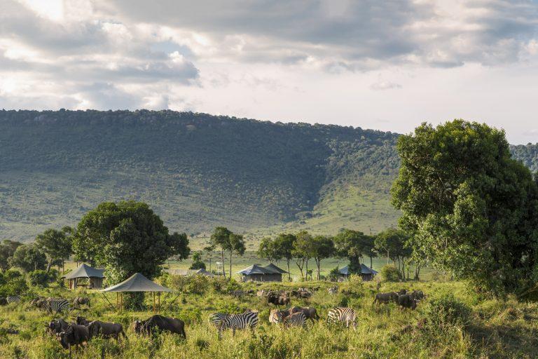 A beautiful tented camp in the Maasai MAra