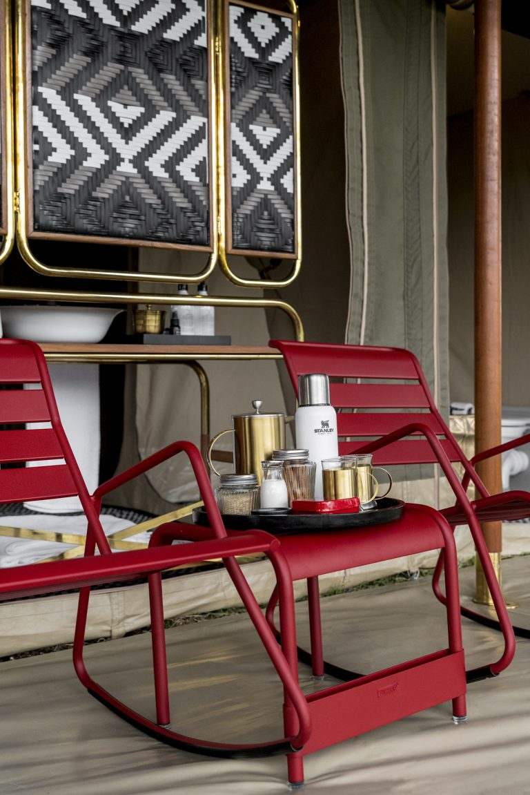Tea on the Fermob red rocking chairs
