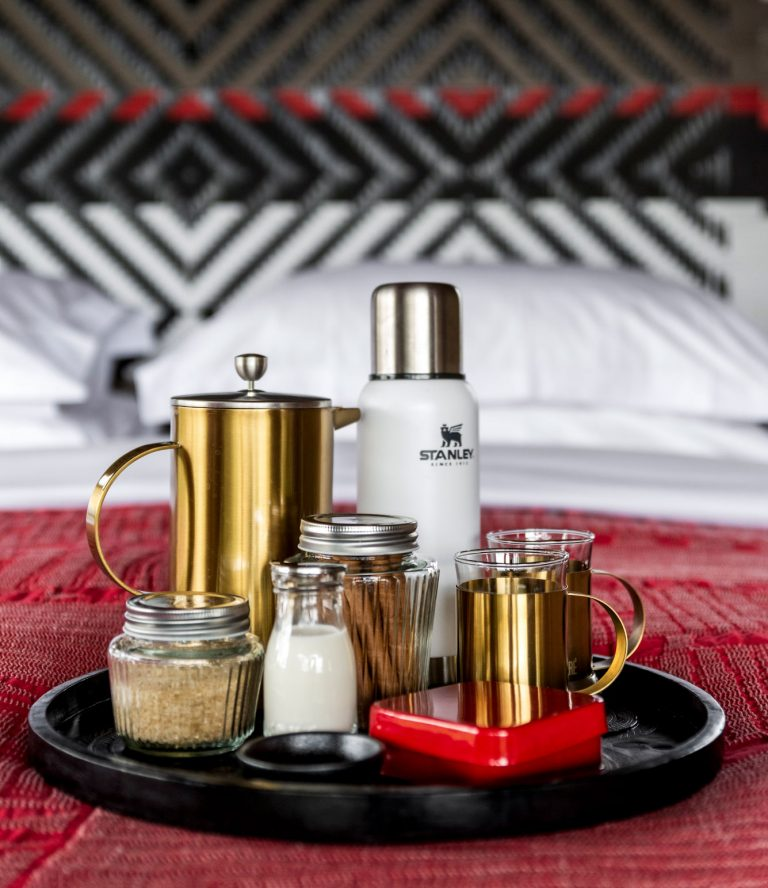Coffee served to your tent