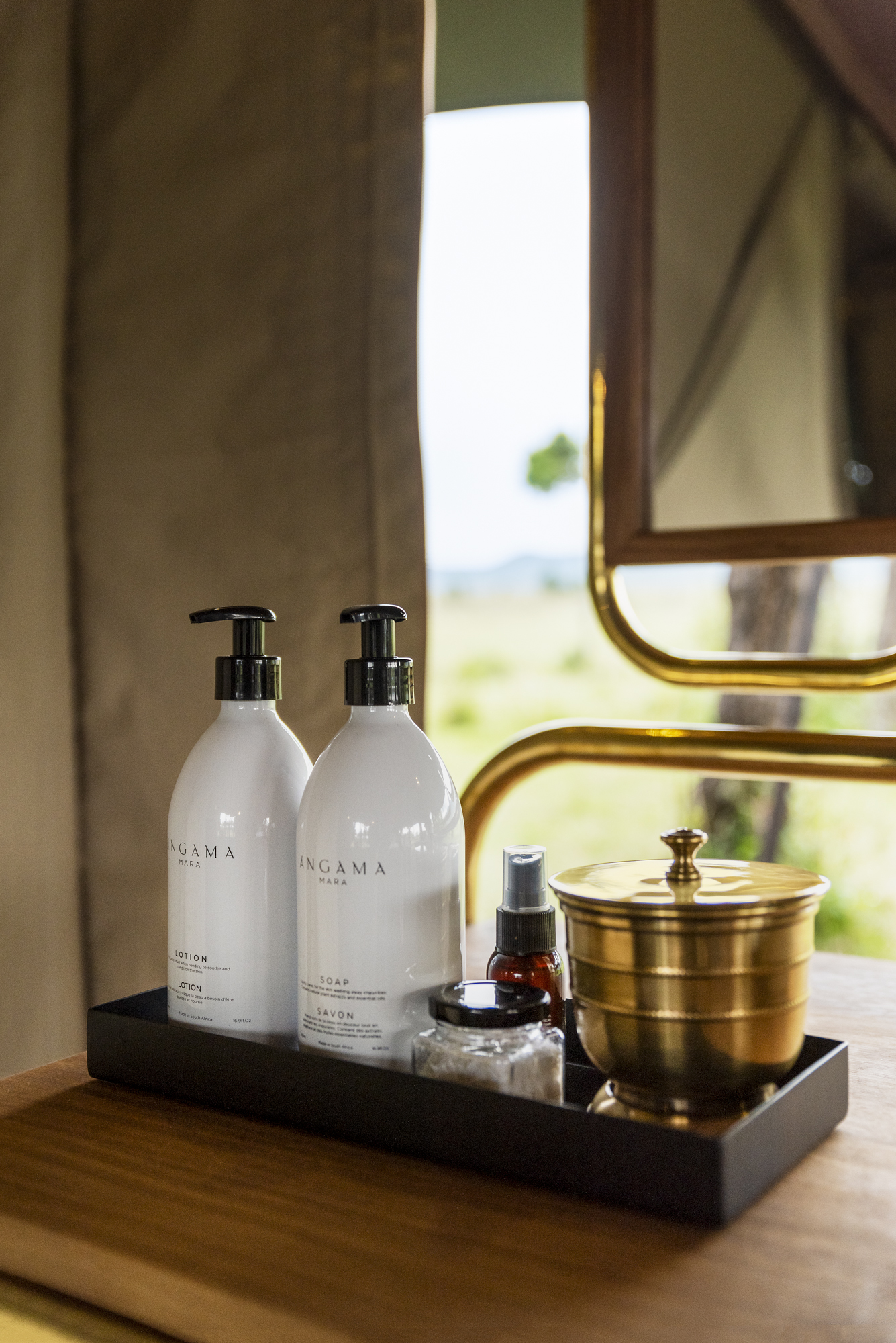 Guest amenities at Angama Safari Camp