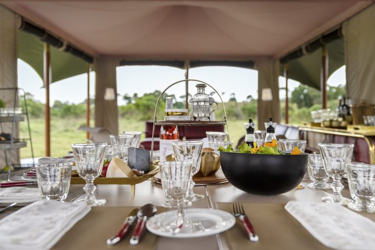 Elegant Dining at Angama Safari Camp