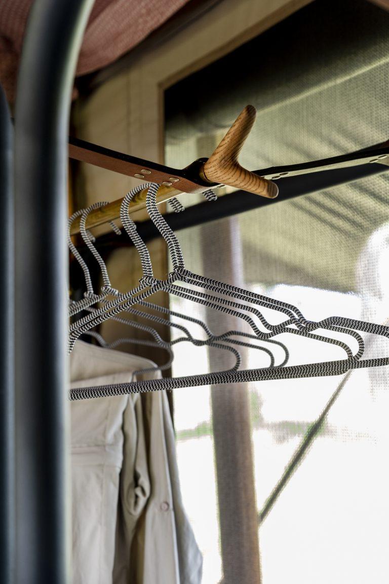 Hanger details in Angama Safari Camp tents