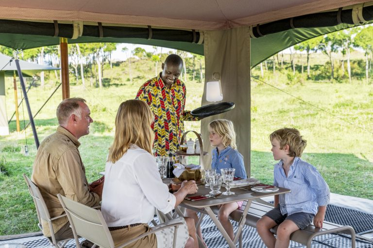 Lunch time at Angama Safari Camp