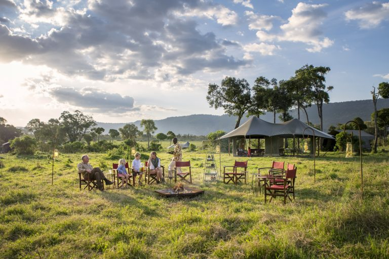 Sunset delights in the MAasai Mara