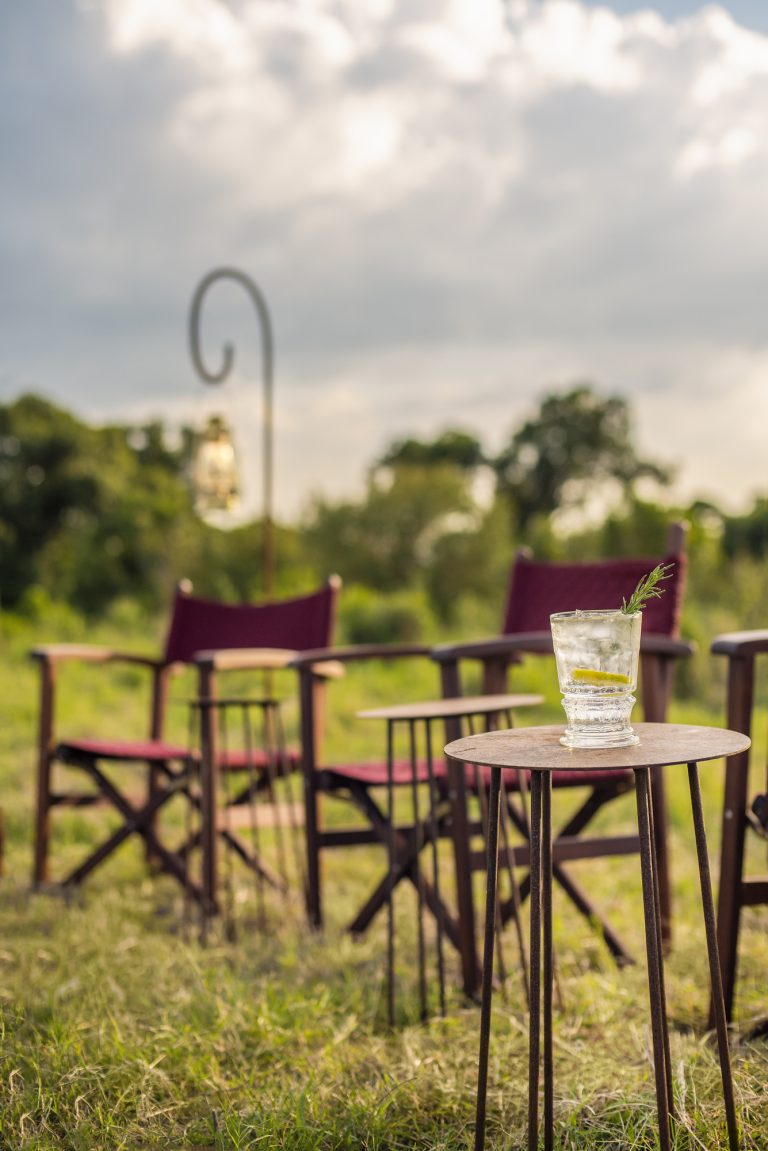 Sunset cocktails at Angama Safari Camp