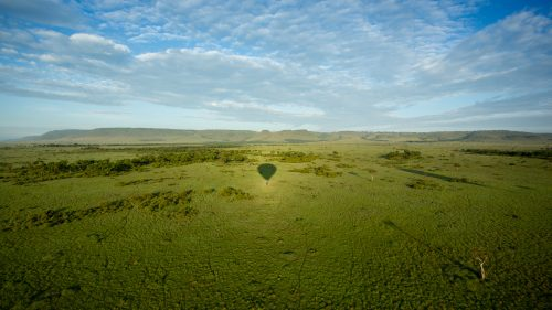The endless emerald grasslands of the Maasai Mara