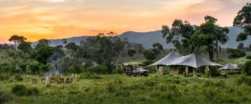 Angama Safari Camp at its debut location in the heart of the Mara Triangle