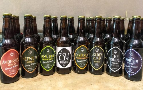 A selection of 254 beers (as delivered to Tyler as part of his Beer Club membership)