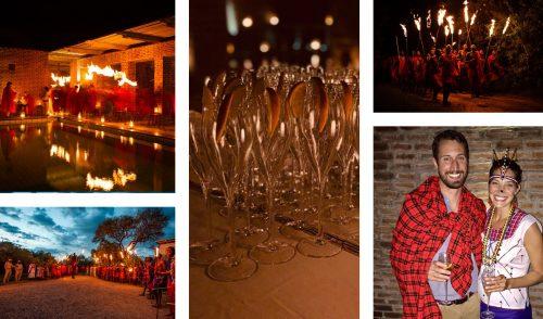 New Years Eve festivities at Angama Mara
