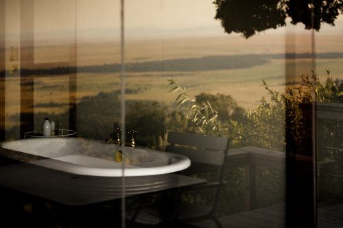 Angama Mara's dreamy bath in all tented suites