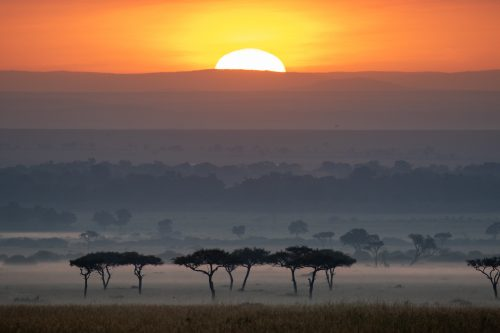 The first Mara sunrise of 2021