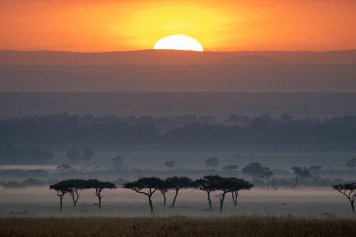 The first Mara sunrise of 2021