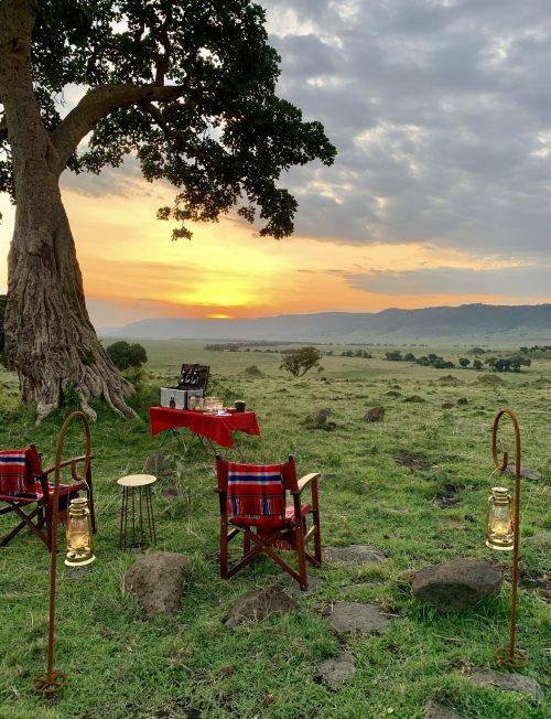 The serenity of sunset at Angama Safari Camp